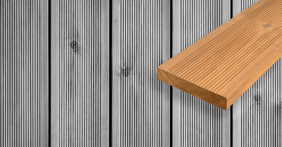 Termopanel Furu från Kustens Trä - Patinering